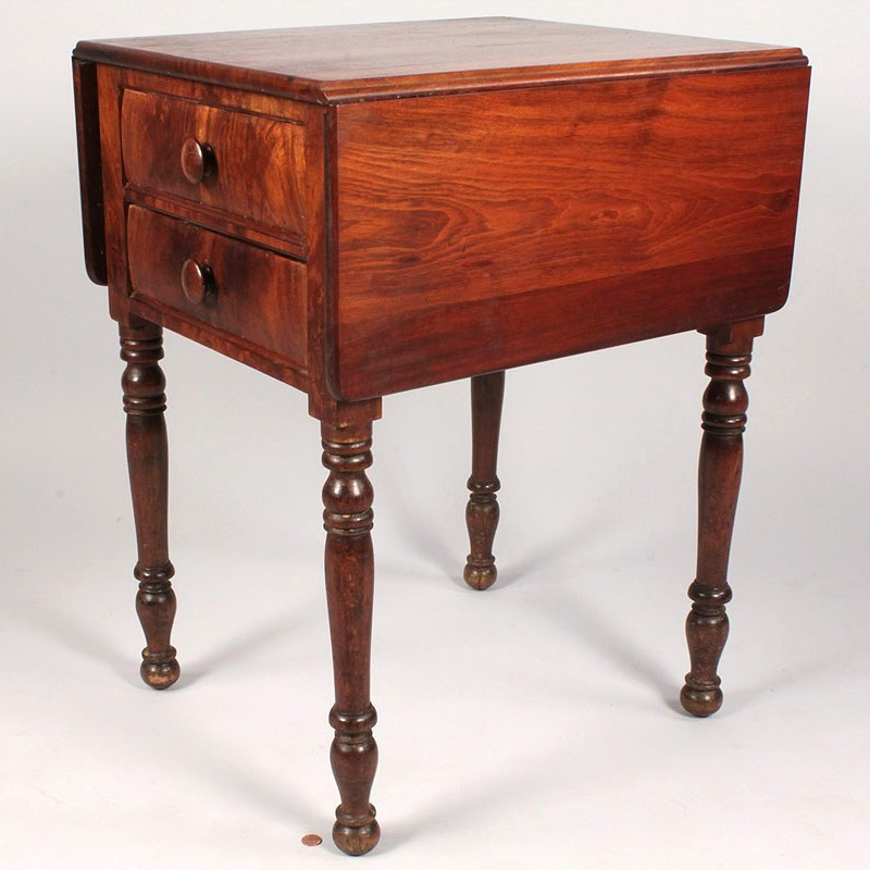 Lot 310: East Tennessee Sheraton 2 Drawer Table