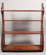 Lot 316: Walnut Whale End Wall Shelf