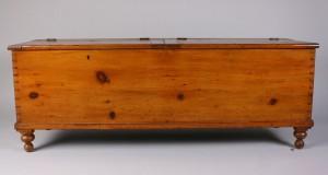 Lot 317: American pine long chest, 19th century