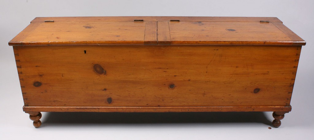 Lot 317: American pine long chest, 19th century