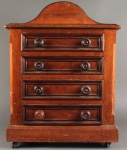 Lot 324: Miniature Victorian Chest, prob. English