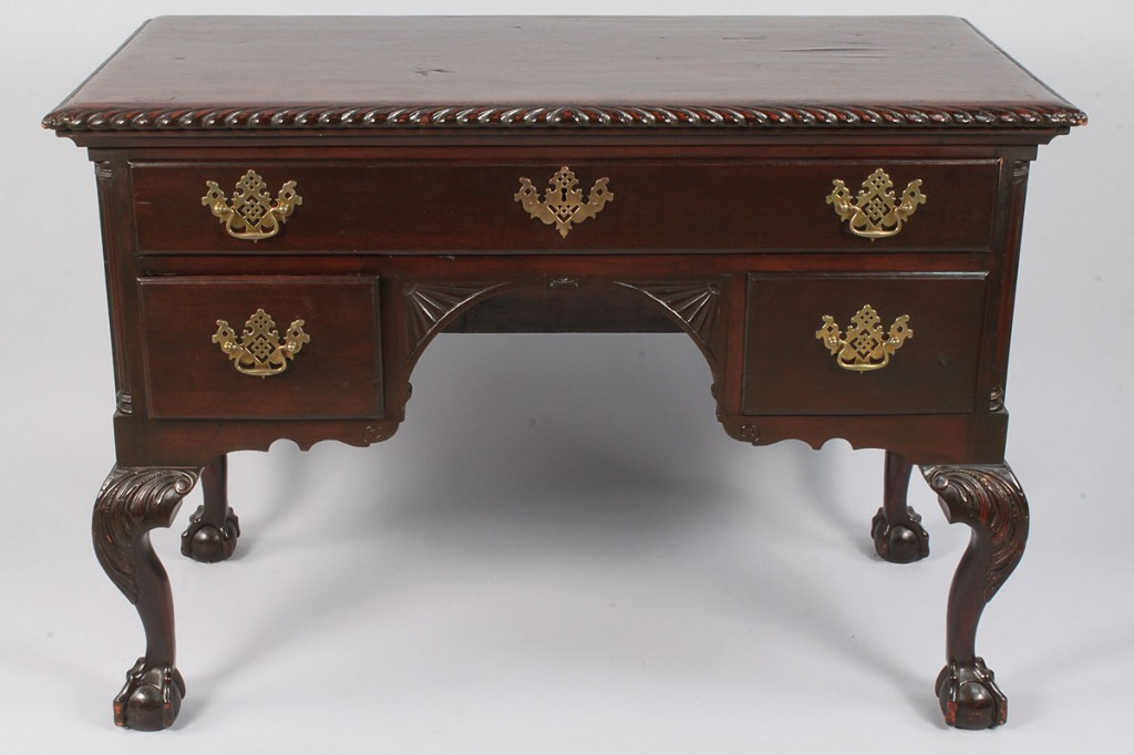 Lot 326: Chippendale Style Mahogany Lowboy
