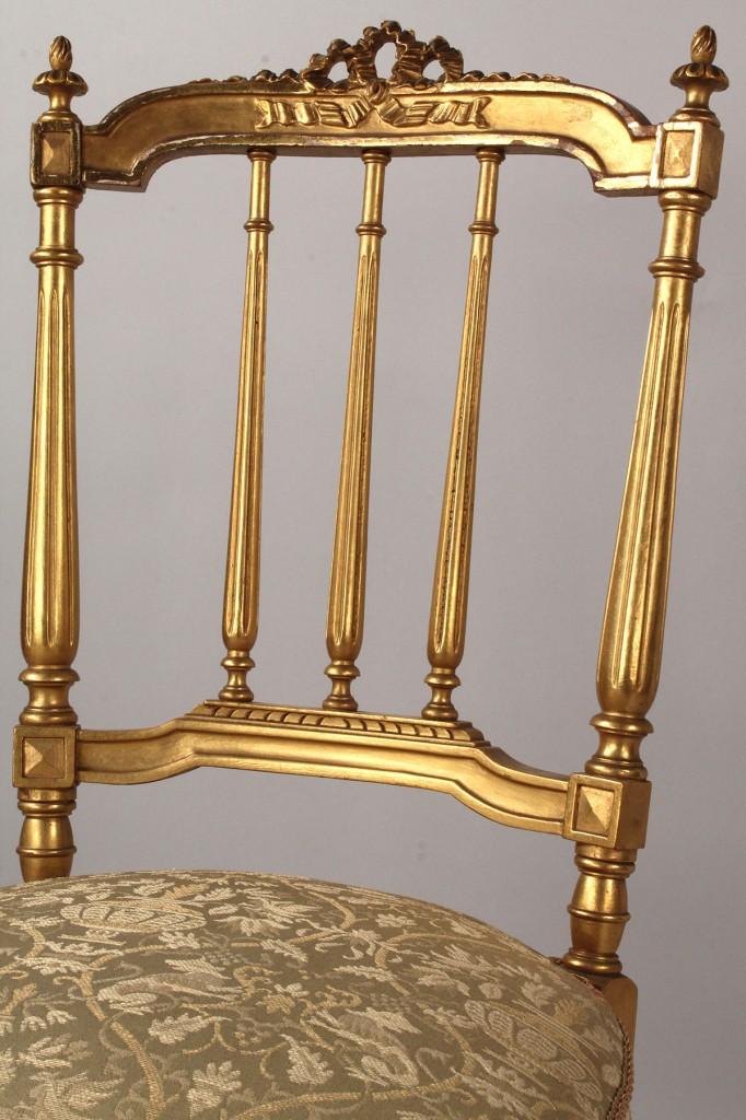 Lot 330: Louis XVI Style Sofa & Chair