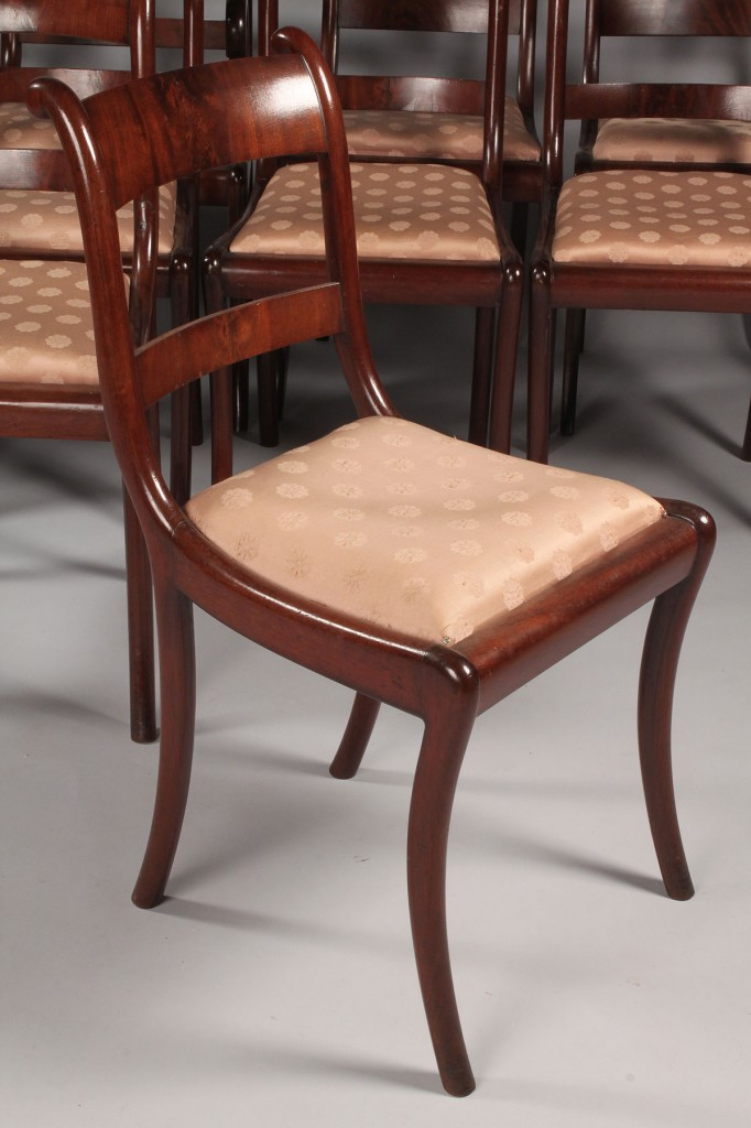 Lot 331: Lot of 10 English Sheraton Dining Chairs