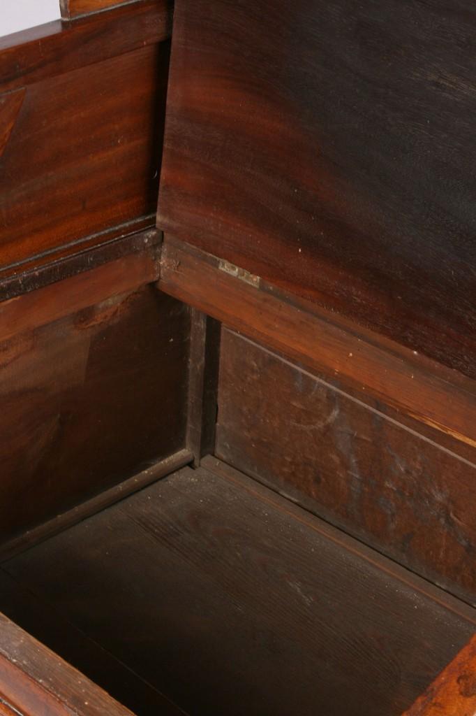 Lot 332: English Mahogany Commode, 19th c.
