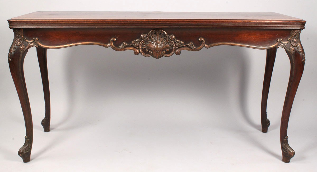 335: Louis XV Style Console Table, converts to dining table