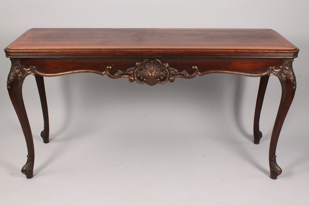 Lot 335 louis xv style console table converts to dining table - Table louis xv ...