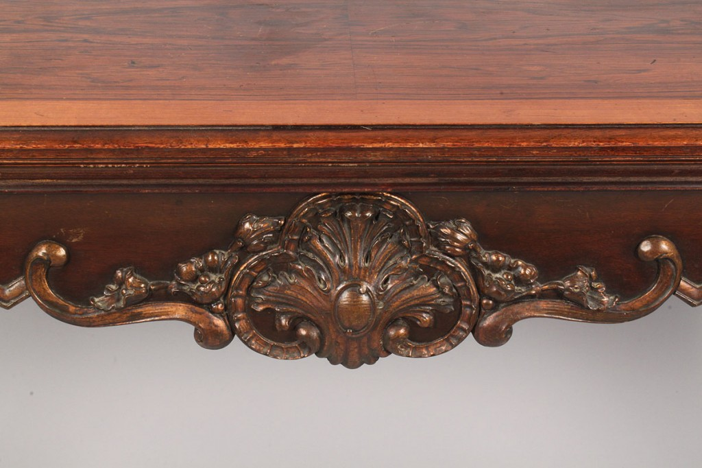 Lot 335: Louis XV Style Console Table, converts to dining table