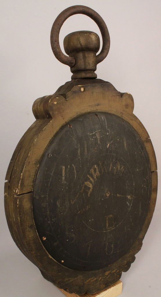 Lot 33: Clock and Watchmaker's Trade Sign, 19th century