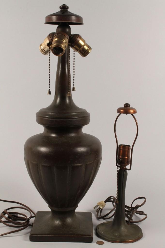 Lot 340: Lot of 2  Handel Lamp Bases