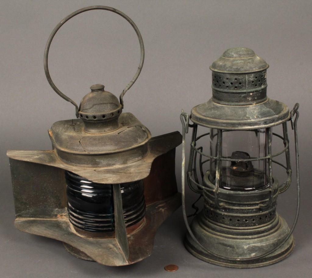 Lot 342: Lot of 2 Perko Ship Lights