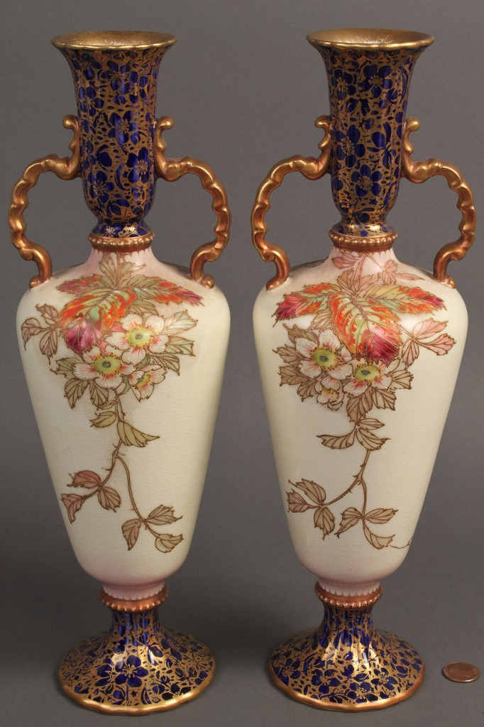Lot 351: Pair Carlton Ware Ceramic Vases
