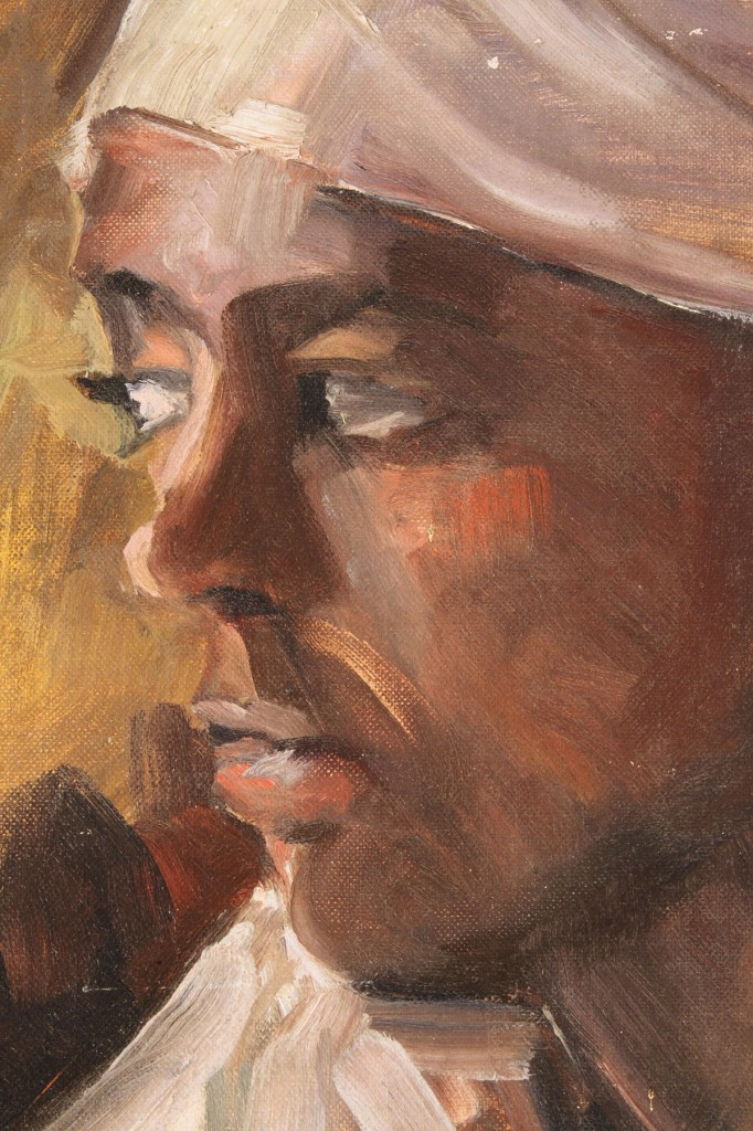 Lot 358: George A. Powers, African-American portrait