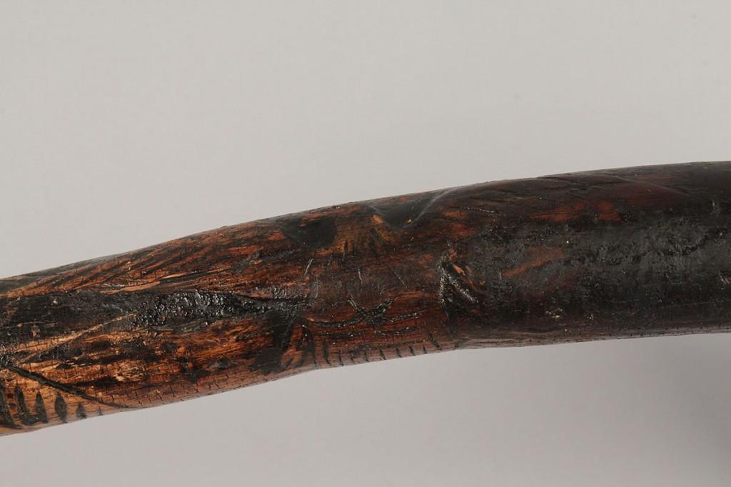 Lot 35: Folk Art Carved Eagle Cane, TN or NC