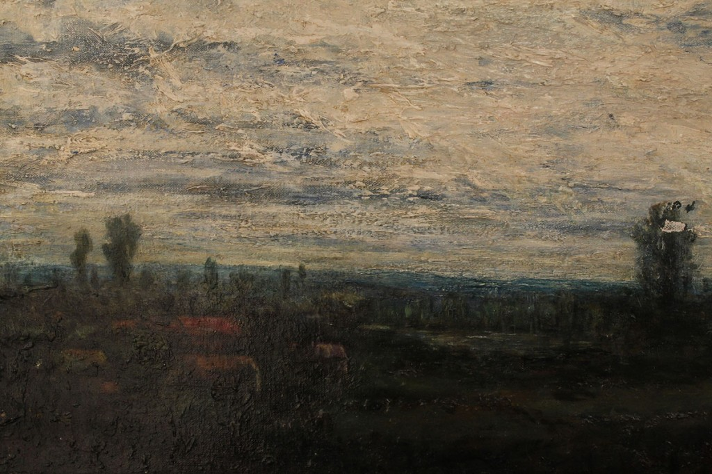 Lot 361: Stark Young, oil on board, pastoral landscape