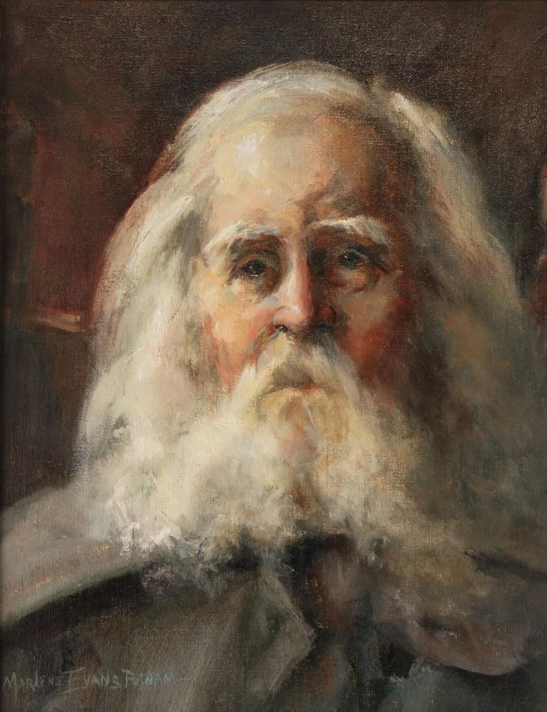 Lot 362: Marlene Evans Putnam Oil on Board, Portrait of an Old Man
