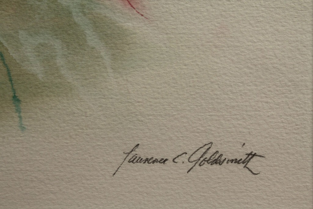 Lot 363: Lawrence Goldsmith Abstract Watercolor