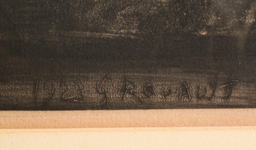Lot 366: Georges Rouault aquatint, Nous Croyant Rois