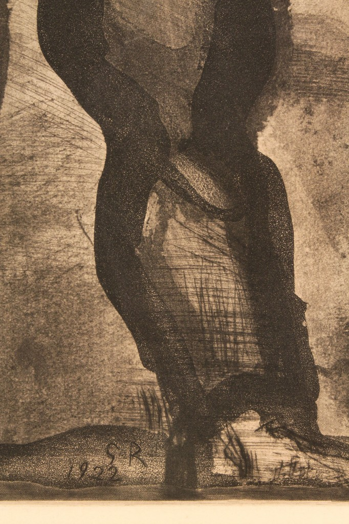 Lot 367: Georges Rouault aquatint, Plate 4 Miserere
