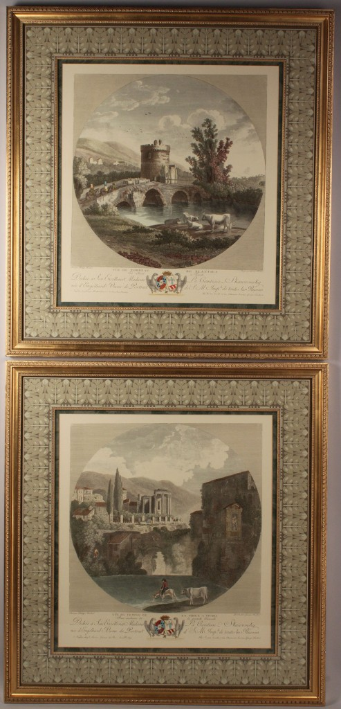 Lot 368: Pair of colored engravings after Phillippe Hackert