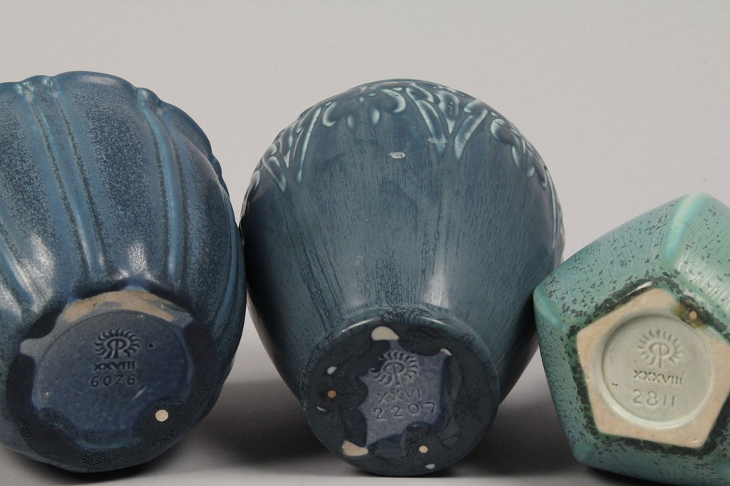 Lot 370: Lot of 3 Rookwood Pottery Vases