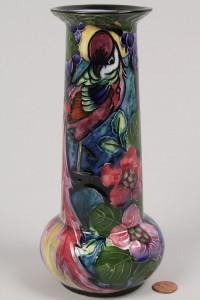 Lot 371: English Art Nouveau Trogon Ware Vase