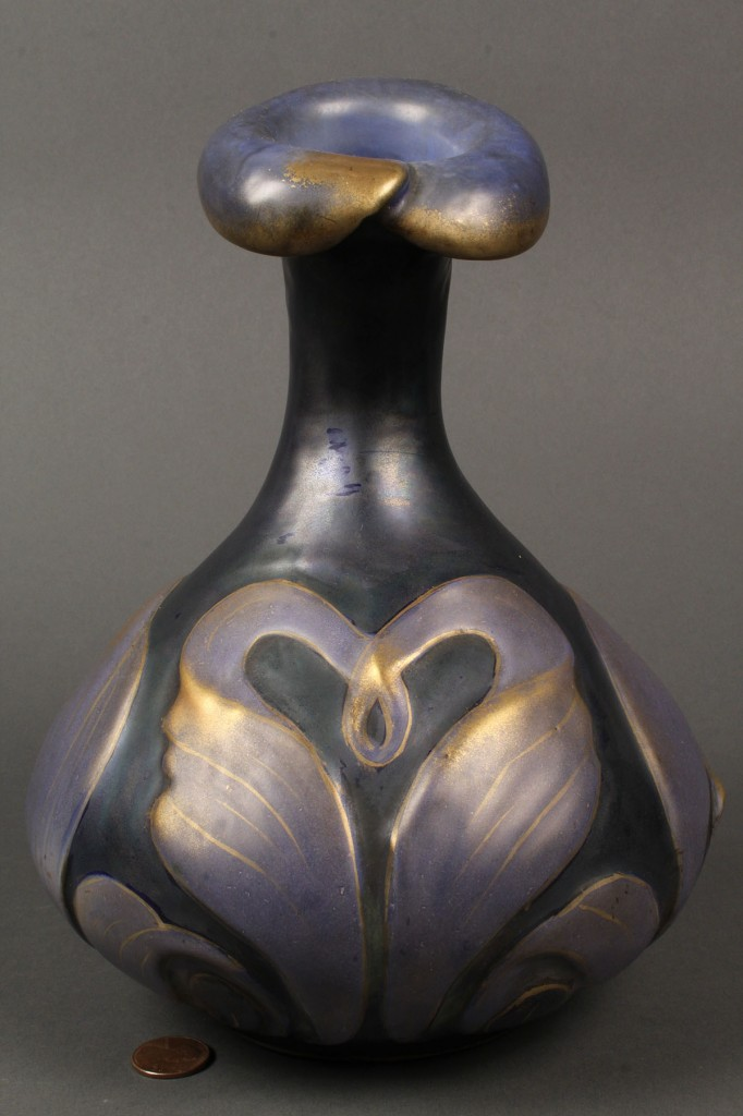 Lot 373: Turn Teplitz Amphora Art Nouveau pitcher