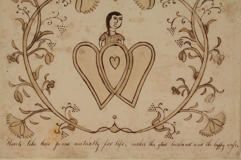 Lot 37: Virginia Marriage Fractur