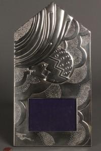 Lot 382: Erte Sterling Art Deco Style Frame