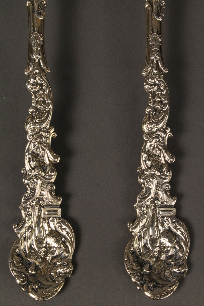 Lot 383:  Gorham Sterling serving spoon & fork