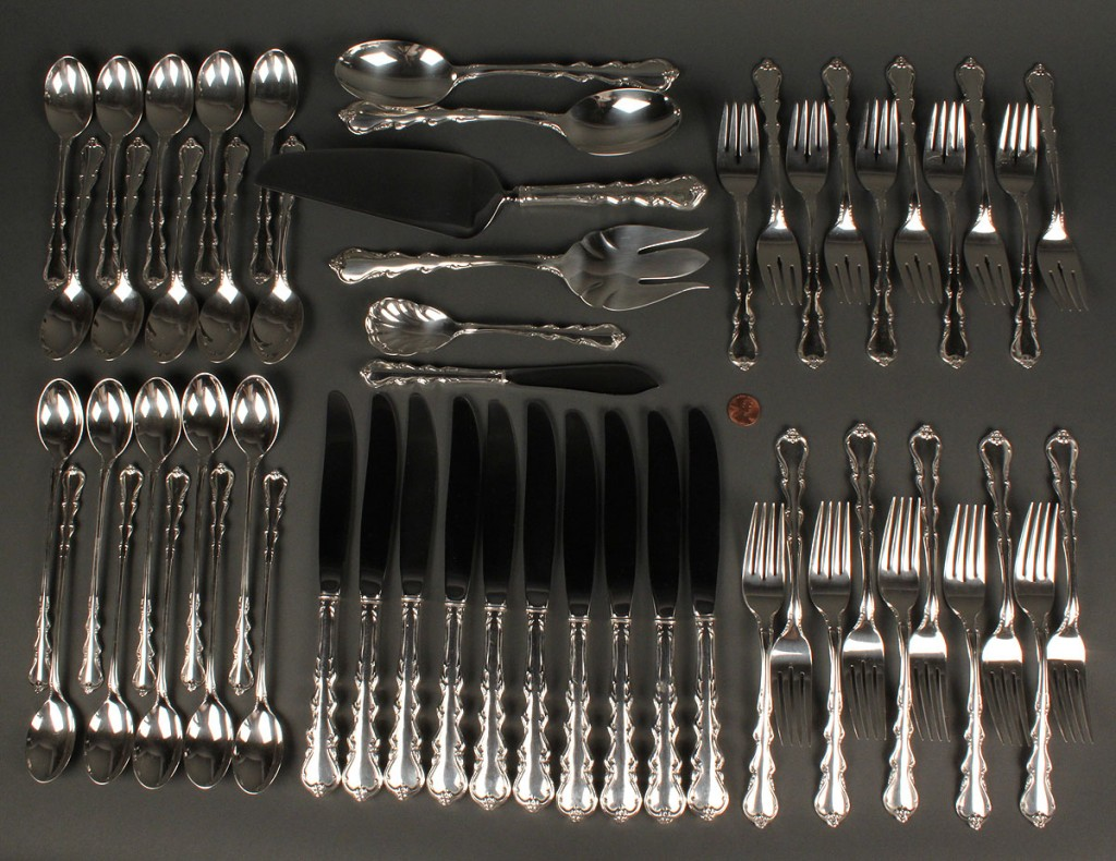 Lot 386: International Angelique Sterling Flatware, 56 pcs