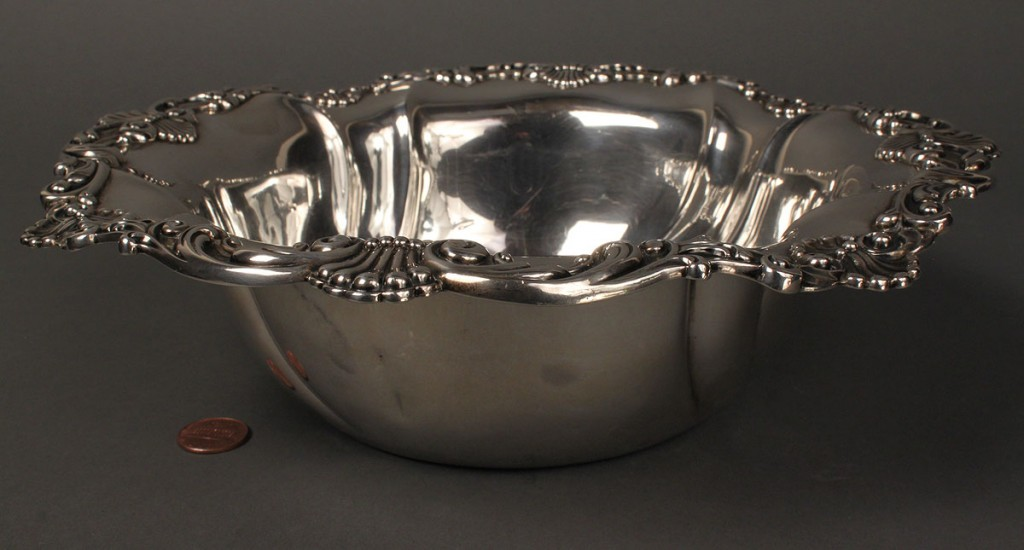Lot 387: Gorham Sterling Serving Bowl