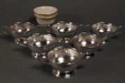 Lot 388: Set of 6 Sterling Bouillon Holders