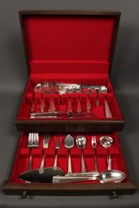 Lot 393: Gorham Sterling Flatware, Hunt Club pattern, 79 pieces