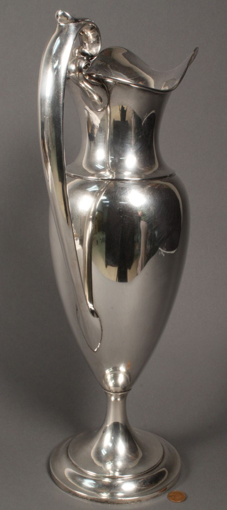 Lot 394: Dominick & Haff Large Sterling Silver Ewer