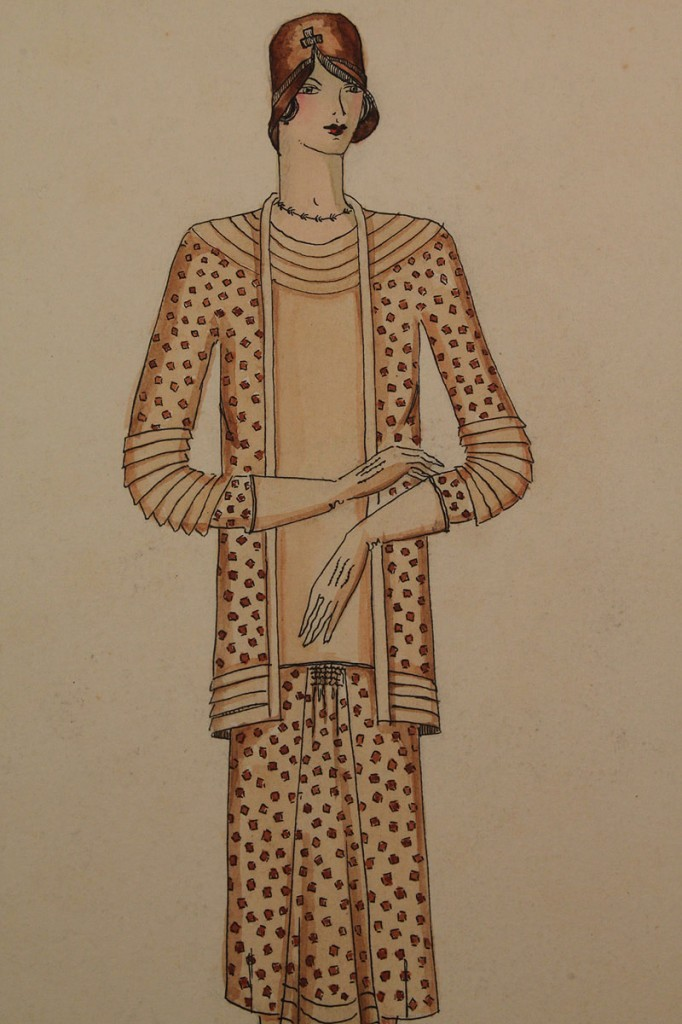 Lot 412: Collection of 1920's Pencil & Ink Fashion Drawings