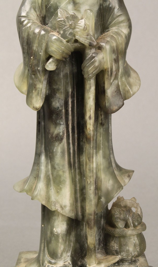 Lot 420: Chinese Carved Jade or Soapstone Figure