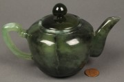 Lot 421: Chinese jade teapot