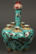 Lot 428: Chinese porcelain long neck bulb or crocus vase