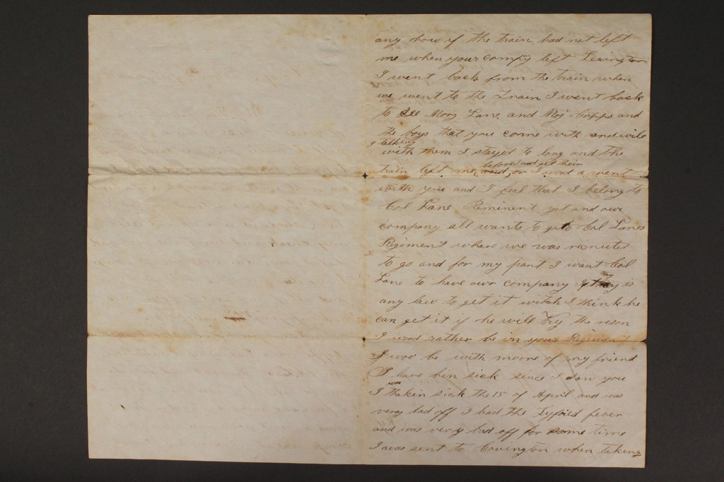 Lot 42: Lot of 10 East TN Civil War letters & documents