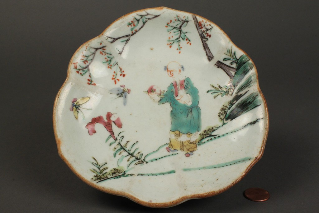 Lot 432: Lot of 3 Chinese Polychrome Porcelain Items