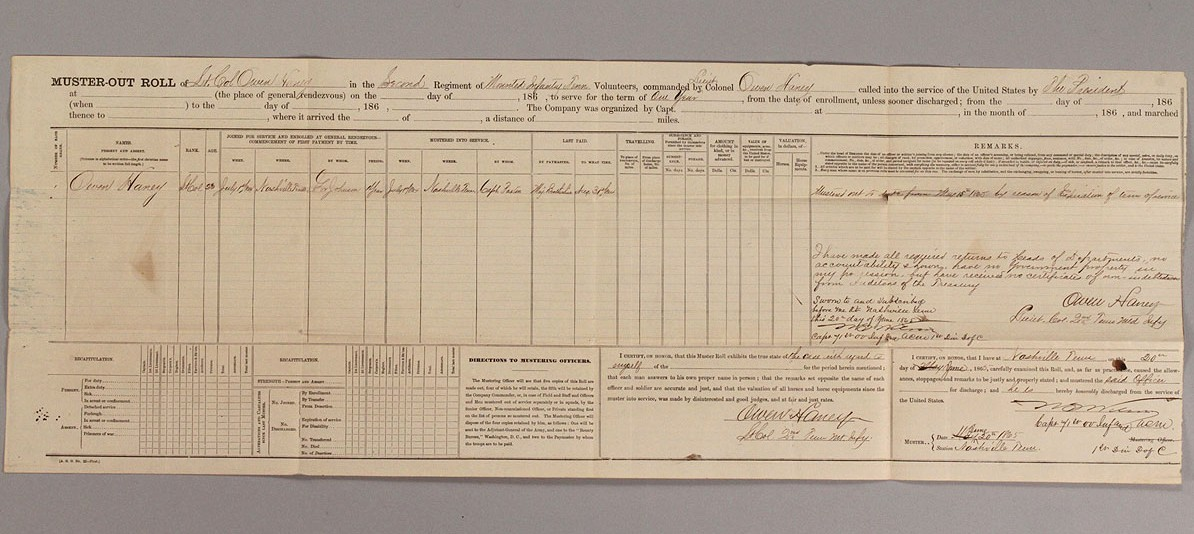 Auctions In Ohio >> Lot 44: Five Civil War Union Army documents