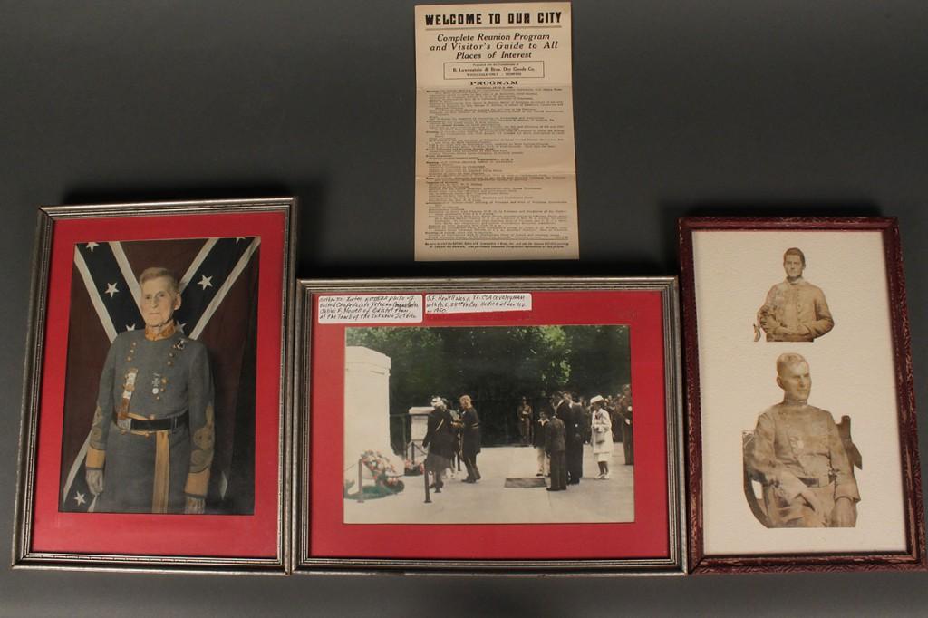 Lot 455: Lot of four Confederate Reunion Items