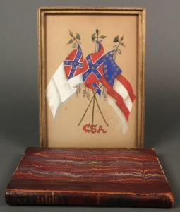 Lot 45: Lot of 2 Civil War Items, Painting & book