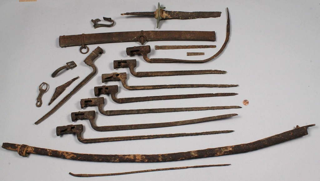 Lot 460: Lot of Excavated Civil War weapons