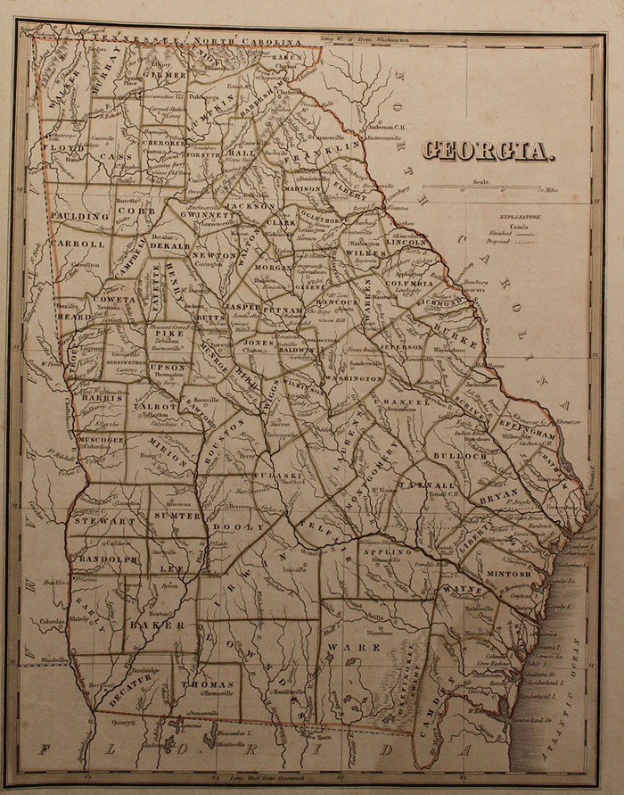 Lot 463: Grouping of Early 19th century Southern Maps includ. TN, GA, 6 total