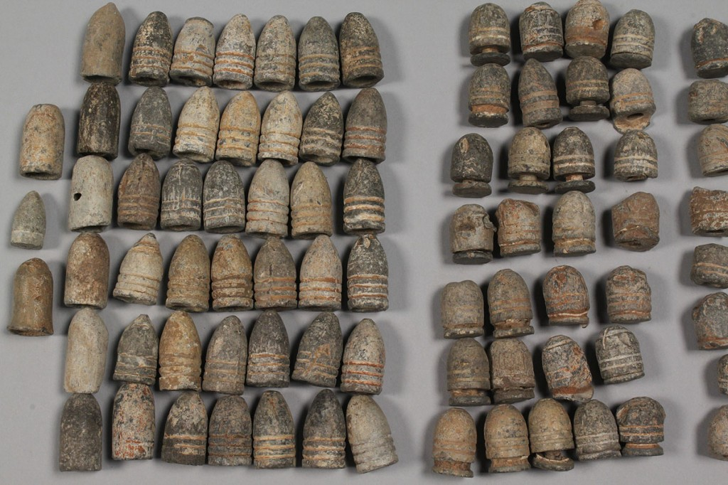 Lot 464: Collection of Excavated Civil War bullets
