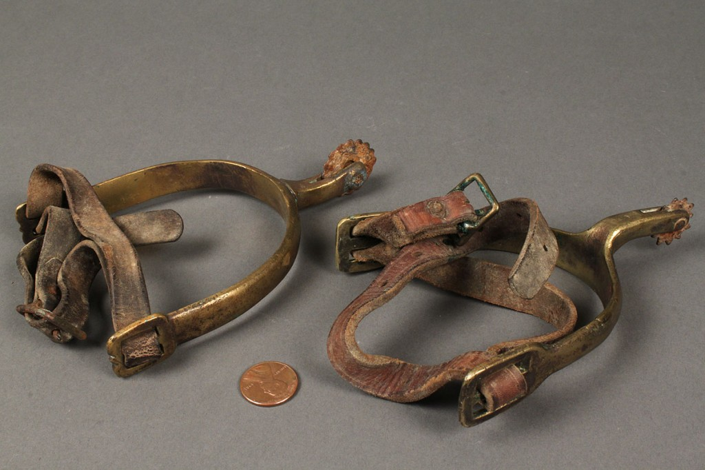 Lot 471: Pair on 19th Century Spurs, possibly Confederate