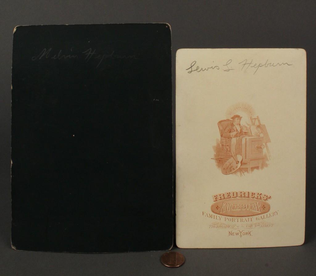 Lot 472: Lot of 2 Cabinet Cards, Lewis & Melvin Hepburn