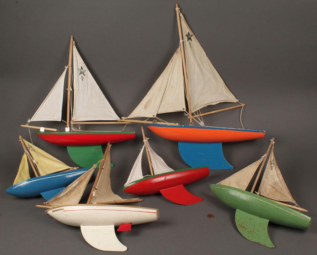Lot 479: Lot of 6 Star Yacht Pond Boats